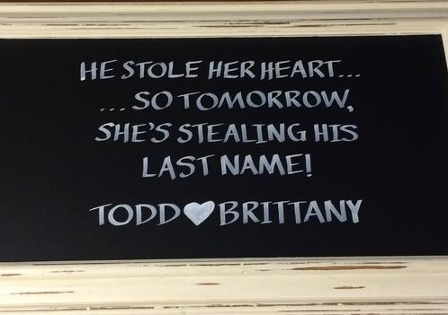 Chalkboard Sign for Wedding