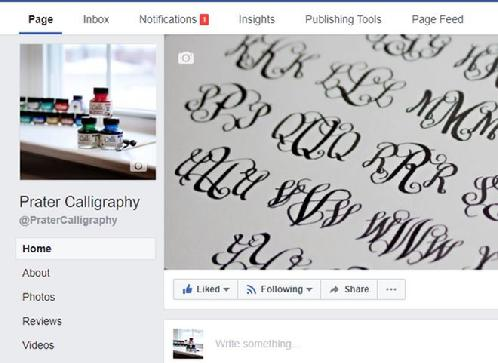 www.facebook.com/PraterCalligraphy/