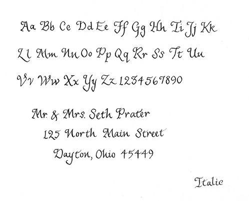 Italic Calligraphy Writing Style