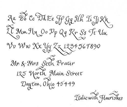 Italic With Flourishes Calligraphy Writing Style