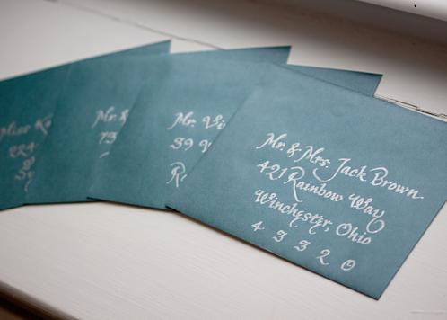 Prater Script Calligraphy in Silver Ink