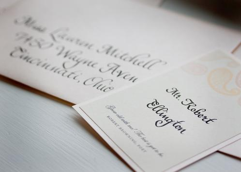 Wedding in Benjamin Script Calligraphy